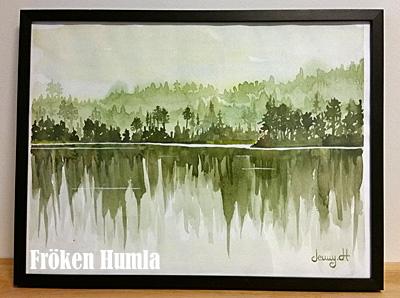 akvarell,konst,skog,norrbotten,fröken humla,jenny holmgren