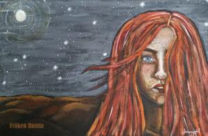 Akryl på canvas. 60 x 40 cm.