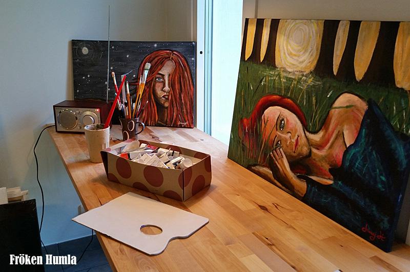 fröken humla,norrbotten,konst,måla,ateljé