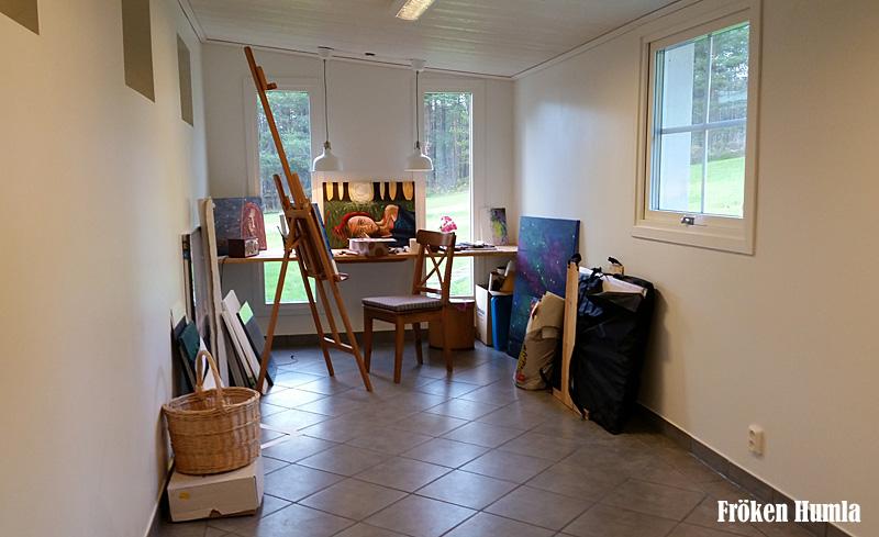 jenny holmgren,fröken humla,norrbotten,konst,måla,ateljé