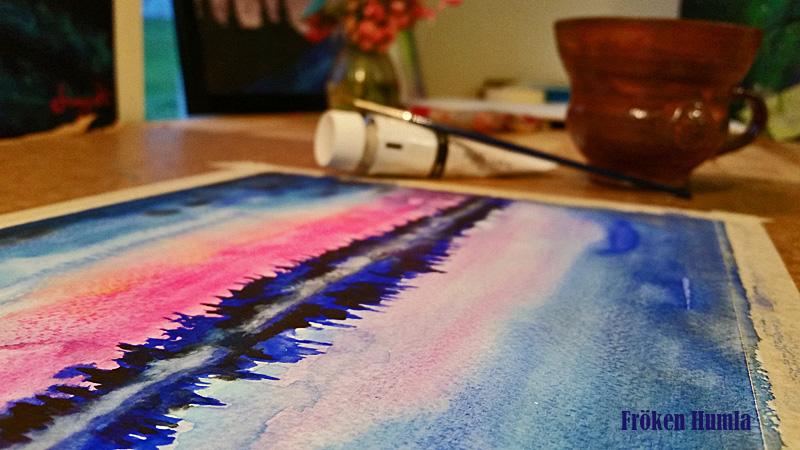 akvarell,konst,fröken humla,jenny holmgren