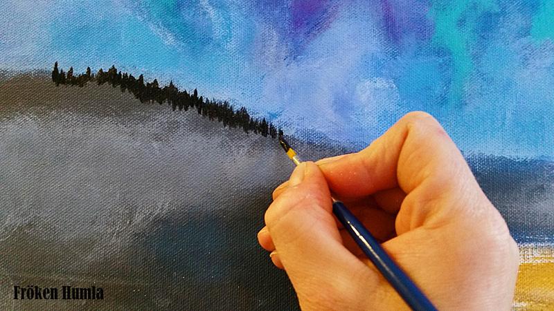 älskar färg,fröken humla,jenny holmgren,akryl,ateljé,konst,konstnär,norrbotten