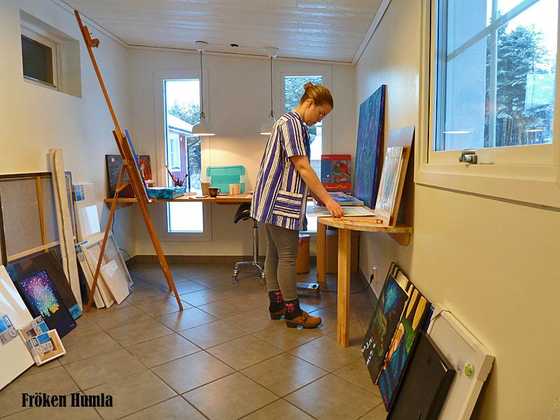 fröken humla,jenny holmgren,ateljé,konst,konstnär,norrbotten