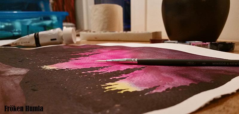 akvarell,ateljé,målar,kreativitet,norrbotten,fröken humla,jenny holmgren,konst