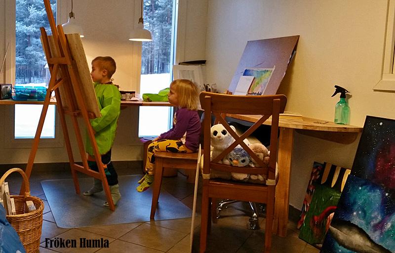 ateljé,målar,barn,kreativ,norrbotten,fröken humla,jenny holmgren