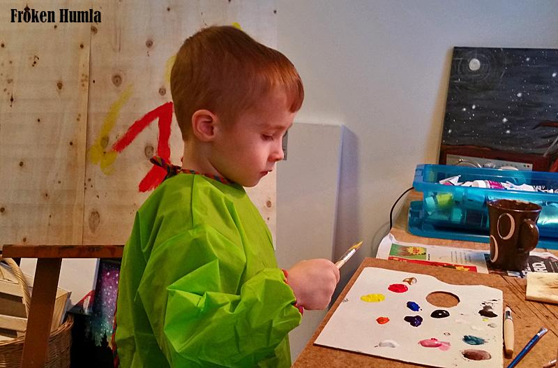 ateljé,måla,barn,kreativ,färg,norrbotten,fröken humla,jenny holmgren