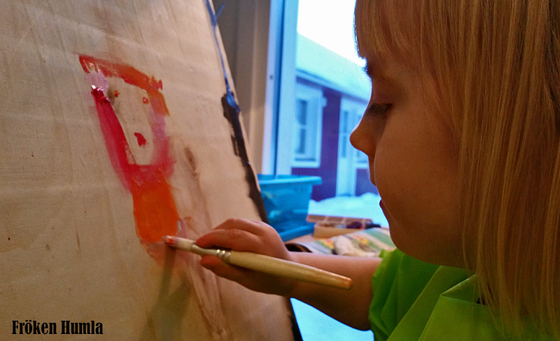 ateljé,måla,barn,kreativ,norrbotten,fröken humla,jenny holmgren