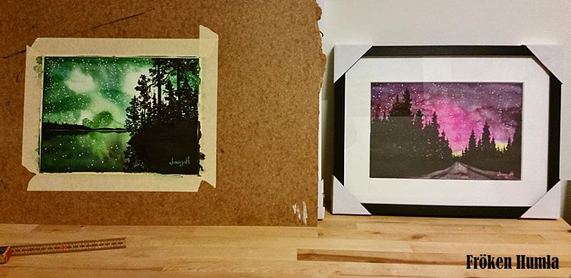 akvarell,konst,tavla,fröken humla,jenny holmgren,norrbotten